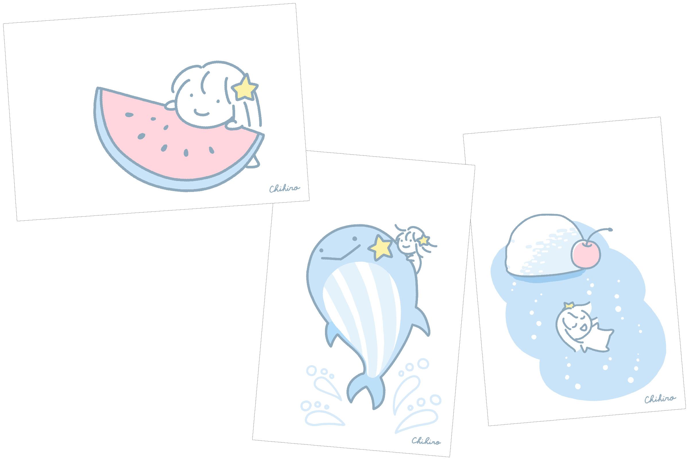 オリジナルポストカード3種